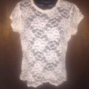 Stretch lace blouse